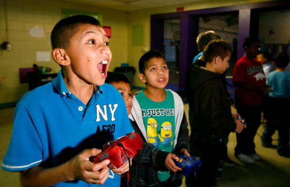 Salvador Aguilar, 10, left, of ...