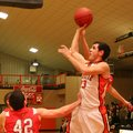 Photo by Randy Moll -- Gravette senior point guard Matt VanOtterloo shoots for two in play against F...