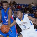 Arkansas Democrat-Gazette/KAREN E. SEGRAVE -- 1/8/13-- North Little Rock's Kevaughn Allen (5) reache...