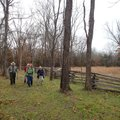 Patrick Poyner, from left, Dennis Heter, Linda Heter and Mary Chodrick explore a section of trail th...