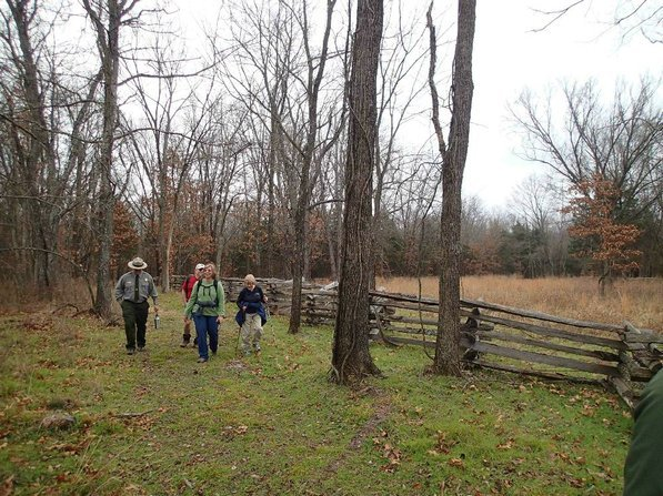 Patrick Poyner, from left, Dennis Heter, Linda Heter and Mary Chodrick explore a section of trail that opened in 2010.