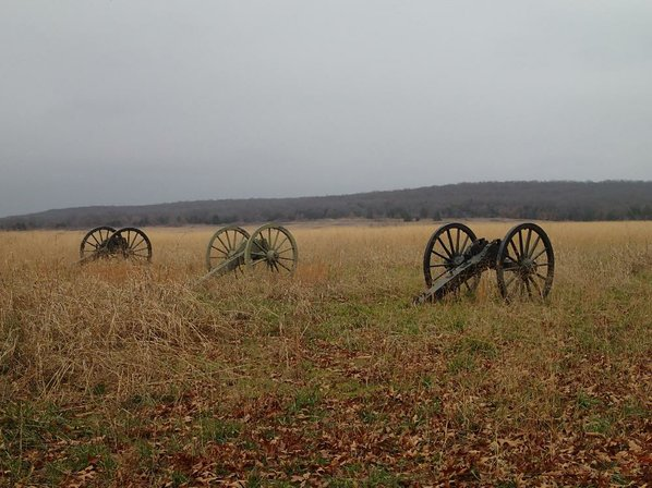 The Pea Ridge battlefield is ...