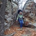 Rock formations are one highlight of a hike Dec. 7 at Pea Ridge National Military Park.
