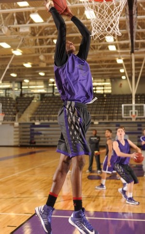 Trea Boyd, a Fayetteville senior forward, has developed his skills while waiting his turn on a deep Bulldogs team.
