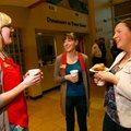 Lindsay Robinson, from left, PACE finance manager, Amy Benincosa, development coordinator, and Jessi...