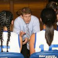 Decatur coach Bill Niven talks to his team during a timeout of a game earlier this year.
