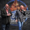 Ken Mourton, left, chairman of the Bikes Blues & BBQ rally, and Joe Giles, its executive director, a...