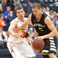Nick Smith, right, of Bentonville goes up for the shot Friday against Rogers Heritage defender Luke ...