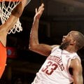 NWA Media/ANTHONY REYES -- Arkansas junior Marshawn Powell (33) shoots against Auburn in the second ...