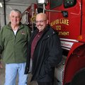 Jerry Owen, left, is retiring as chief of the Beaver Lake Fire Department. Mark Finnochio, right, is...