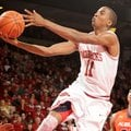 NWA Media/ANTHONY REYES -- Arkansas sophomore BJ Young (11) shoots against Auburn in the second half...