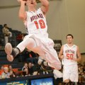 Hayden Greenway, a Rogers Heritage guard, attempts a jump shot during the Arvest Hoopfest championsh...