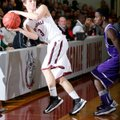 Tyler Tutt, Springdale High sophomore, saves a ball from going out of bounds Friday against Fayettev...