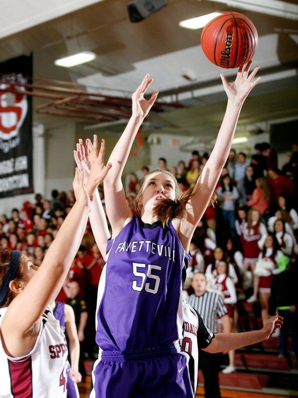 Lauren Schuldt, Fayetteville sophomore, puts ...