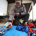 Mark Miller, Upper Buffalo District Ranger, demonstrates an inventory of high angle search and rescu...