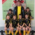 The U10 Yellow Jackets 3V3 soccer team from Bentonville won the 3V3 Live Futsal Tournament in Joplin...