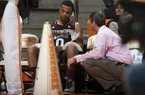Mississippi State guard Jalen Steele (0) was briefly benched to ice his knees during the second half of an NCAA college basketball game against Tennessee at Thompson-Boling Arena, Saturday, Jan. 19, 2013, in Knoxville, Tenn. (AP Photo/Knoxville News Sentinel, Adam Brimer)