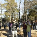 Birders moved inland to look for songbirds on Saturday.