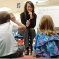 Holly Smith, an instructional facilitator with Fayetteville Public Schools, works Tuesday, Jan. 15, ...