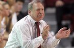 """Well, clearly we are disappointed,"" said Arkansas Coach Tom Collen (shown here in January), whose team posted its lowest output since losing to No. 14 Vanderbilt 61-34 on Jan. 28, 2007. Arkansas lost to No. 13 Georgia 66-34 at Stegeman Coliseum in Athens, Ga. Thursday night."