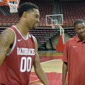 Arkansas assistant TJ Cleveland (right) scored 15 points in the Razorbacks' last win at South Caroli...
