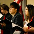 "NorthWest Arkansas Community College Chamber Singers perform ""There is a Balm in Gilead,"" during the..."