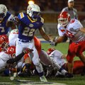 Alabama commit Altee Tenpenny, pictured running the ball against Cabot, was visited by Arkansas coac...