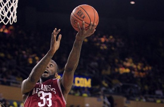 Arkansas forward Marshawn Powell scored 22 points and pulled down 13 rebounds, despite the Razorbacks' struggles in their 75-54 loss to South Carolina.