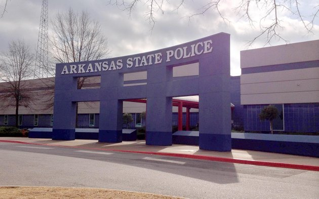 arkansas-state-police-headquarters-is-seen-monday-shortly-after-a-meeting-in-which-a-probationary-trooper-was-fired-for-an-unspecified-conduct-violation