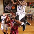 Manny Watkins, right, a Fayetteville guard, leads the Fayetteville Bulldogs in scoring with 112 poin...
