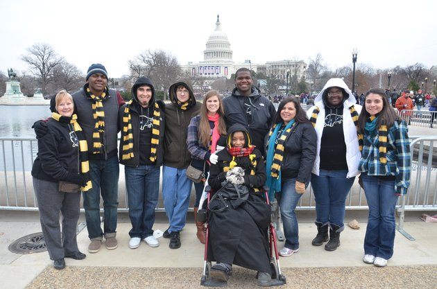 students-in-harding-universitys-mcnair-scholars-program-recently-attended-barack-obamas-second-presidential-inauguration-in-washington-dc-standing-from-the-left-are-linda-thompson-director-of-the-mcnair-scholars-program-isaac-alvarado-creagan-williams-justin-nesselrotte-tiffany-perez-patrick-bingham-aurora-gerardo-smith-jessica-word-and-tess-zuniga-in-the-front-is-briana-lopez