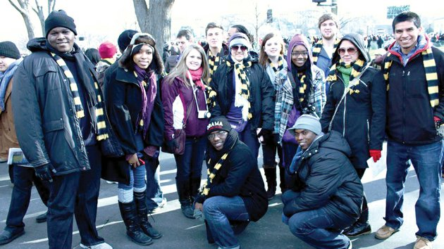 university-of-central-arkansas-students-pose-for-a-photo-outside-the-us-capitol-during-barack-obamas-second-inauguration-on-jan-21-kneeling-from-the-left-are-william-edwards-and-elyahb-allie-kwizera-and-standing-from-the-left-arzalious-davis-kailen-hardman-jade-edwards-jared-lareau-allison-rubio-paige-murphy-darlecia-williams-adam-price-kristin-weatherford-and-chris-melendez