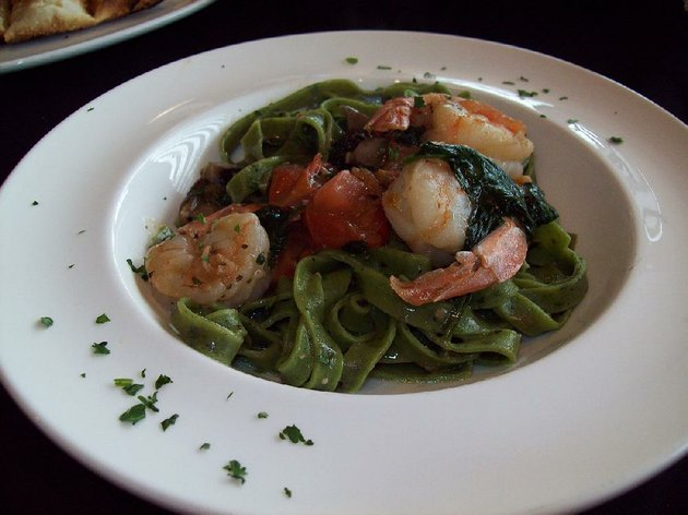 the-shrimp-florentine-at-russos-coal-fired-kitchen-in-conway-is-made-with-large-shrimp-organic-spinach-and-a-lemon-garlic-wine-sauce-on-top-of-spinach-pasta