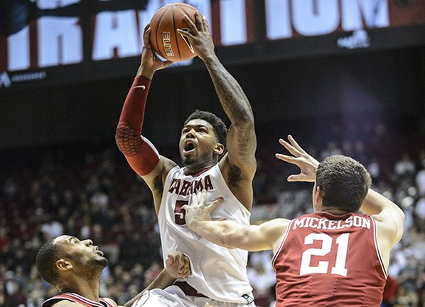 Alabama guard Trevor Lacey (5) ...