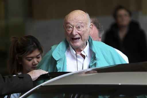 in-this-dec-10-2012-file-photo-former-new-york-city-mayor-ed-koch-says-good-bye-to-reporters-as-he-gets-in-his-car-after-being-released-from-the-hospital-in-new-york-a-spokesman-says-koch-now-expects-to-get-out-of-the-hospital-on-saturday-jan-26-2013-spokesman-george-arzt-said-friday-that-koch-originally-expected-to-remain-over-the-weekend-at-newyork-presbyteriancolumbia-hospital-but-doctors-changed-their-minds-and-decided-to-let-him-out-saturday-instead-he-was-admitted-last-saturday-night-with-fluid-in-his-lungs-and-swollen-ankles-doctors-have-told-the-88-year-old-ex-mayor-to-limit-his-salt-intake