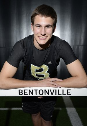 Jordan Patrick, a Bentonville junior, will be competing in the boy's 60-meter hurdles, triple jump and high jump on Saturday in the Arkansas Indoor Track and Field Championships at the Randal Tyson Track Center in Fayetteville.