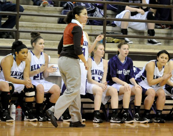 Monica Wells, Elkins girls coach, ...