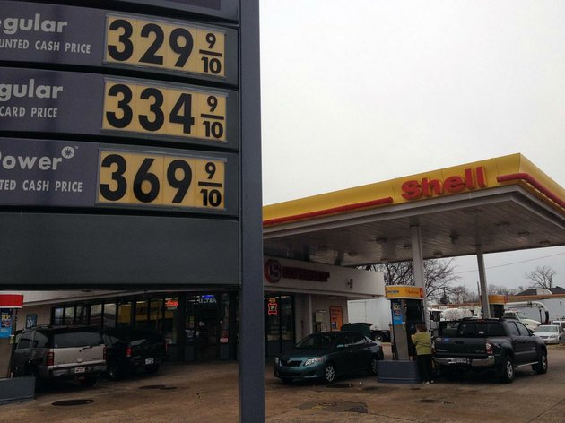 regular-unleaded-gas-was-selling-for-just-under-330-a-gallon-monday-morning-feb-4-2013-at-the-shell-station-on-broadway-street-in-downtown-little-rock