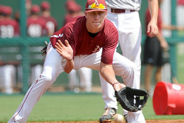 Arkansas infielder Dominic Ficociello was drafted in the 12th round by the Detroit Tigers on Saturday.