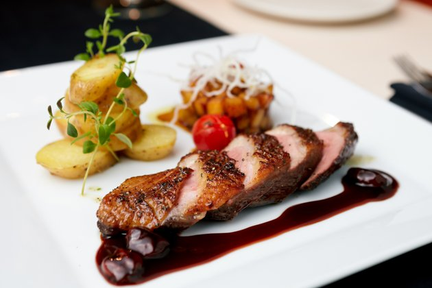 crispy-duck-breast-with-cherry-port-sauce