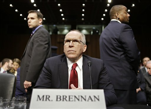 cia-director-nominee-john-brennan-flanked-by-security-arrives-on-capitol-hill-in-washington-thursday-feb-7-2013-to-testify-at-his-confirmation-hearing-before-the-senate-intelligence-committee