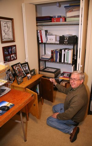 Larry Williams worked with professional organizer Becca Clark of Hot Springs to create a home office in an unused bedroom.