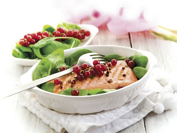 Salmon and Grapes