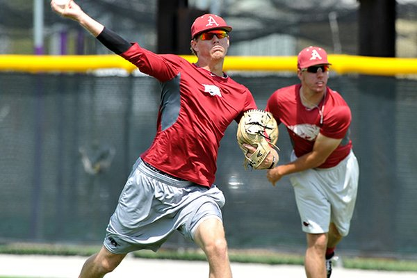 Ryne Stanek, left, was selected by Baseball America as the preseason SEC Pitcher of the Year.