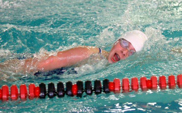 Rogers' Lisa Lauschke swims in ...