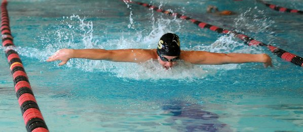John Hedgecock of Bentonville swims ...