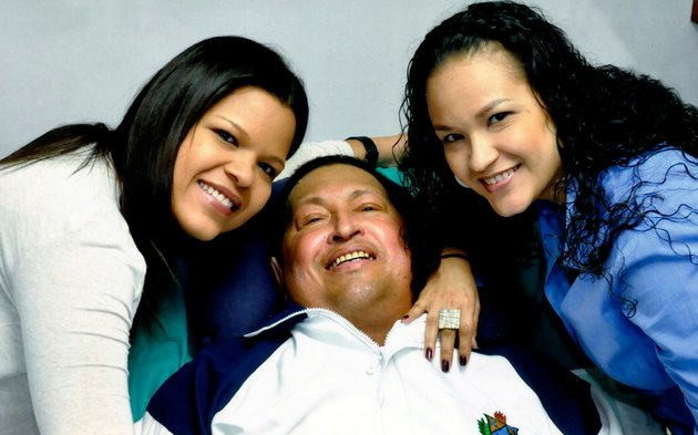 in-this-photo-released-friday-feb-15-2013-by-miraflores-presidential-press-office-venezuelas-president-hugo-chavez-center-poses-for-a-photo-with-his-daughters-maria-gabriela-left-and-rosa-virginia-at-an-unknown-location-in-havana-cuba-on-thursday-feb-14-2013