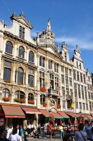 The Grand Place, Brussels' main square, is a beautiful blend of historic guild houses, public open space, and an ever-changing people scene.