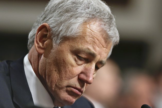 file-in-this-jan-31-2013-file-photo-republican-chuck-hagel-a-former-two-term-gop-senator-from-nebraska-and-president-obamas-choice-for-defense-secretary-testifies-before-the-senate-armed-services-committee-during-his-confirmation-hearing-on-capitol-hill-in-washington-a-senate-panel-on-wednesday-feb-6-2013-abruptly-postponed-a-vote-on-chuck-hagels-nomination-to-be-defense-secretary-amid-republican-demands-for-more-information-from-president-barack-obamas-nominee-about-his-paid-speeches-and-business-dealings
