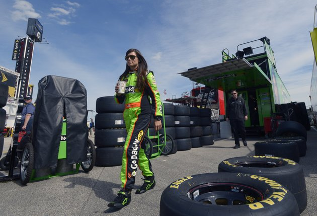 danica-patrick-walks-from-her-hauler-to-her-garage-during-practice-for-the-nascar-daytona-500-sprint-cup-series-auto-race-at-daytona-international-speedway-saturday-feb-16-2013-in-daytona-beach-fla